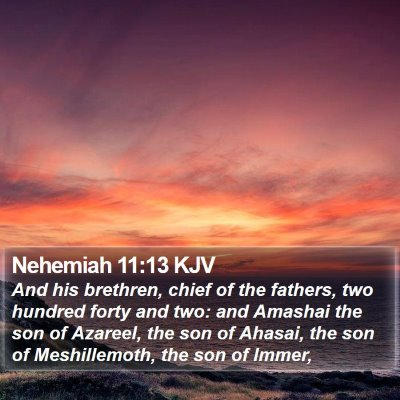 Nehemiah 11:13 KJV Bible Verse Image