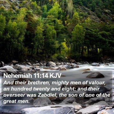 Nehemiah 11:14 KJV Bible Verse Image