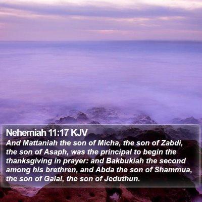 Nehemiah 11:17 KJV Bible Verse Image