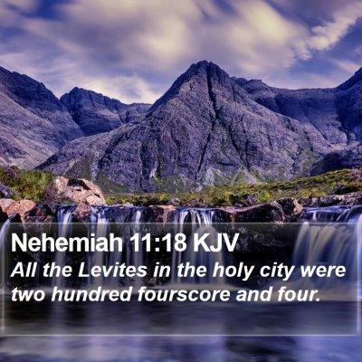 Nehemiah 11:18 KJV Bible Verse Image
