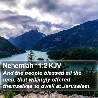Nehemiah 11:2 KJV Bible Verse Image