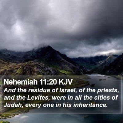 Nehemiah 11:20 KJV Bible Verse Image