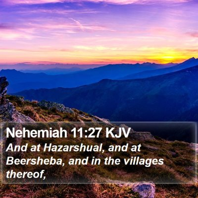 Nehemiah 11:27 KJV Bible Verse Image