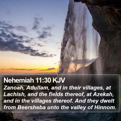 Nehemiah 11:30 KJV Bible Verse Image