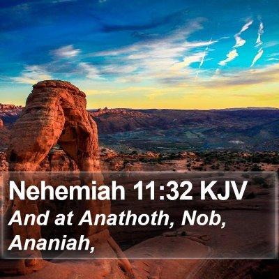 Nehemiah 11:32 KJV Bible Verse Image