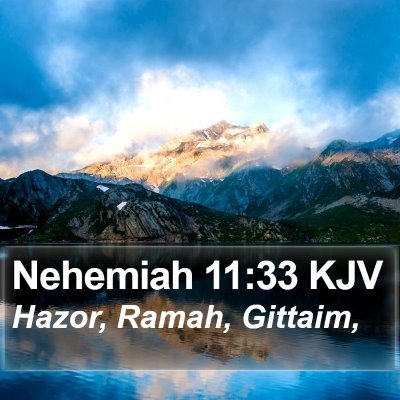 Nehemiah 11:33 KJV Bible Verse Image