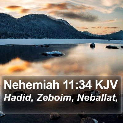Nehemiah 11:34 KJV Bible Verse Image