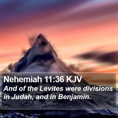 Nehemiah 11:36 KJV Bible Verse Image