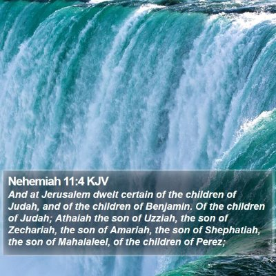 Nehemiah 11:4 KJV Bible Verse Image