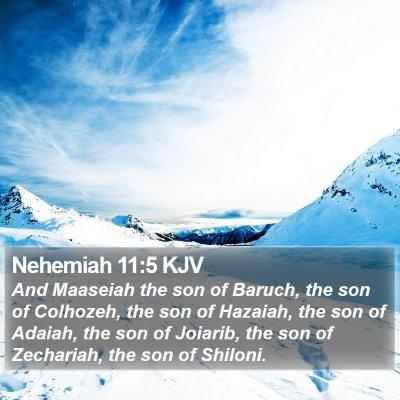 Nehemiah 11:5 KJV Bible Verse Image
