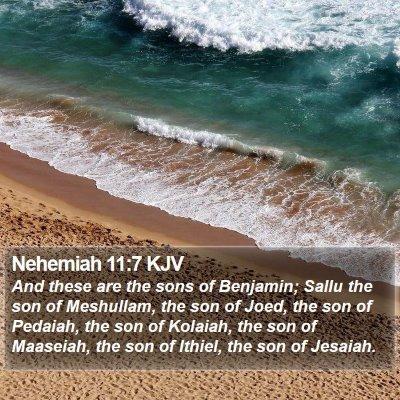 Nehemiah 11:7 KJV Bible Verse Image