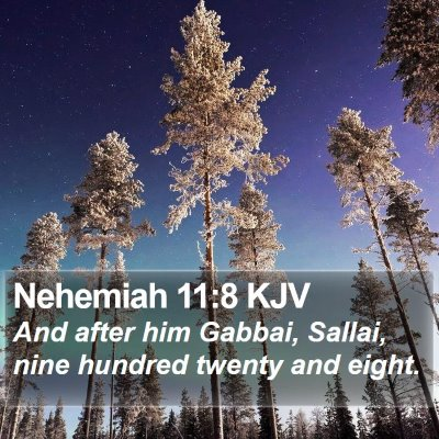 Nehemiah 11:8 KJV Bible Verse Image