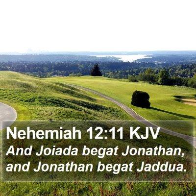 Nehemiah 12:11 KJV Bible Verse Image