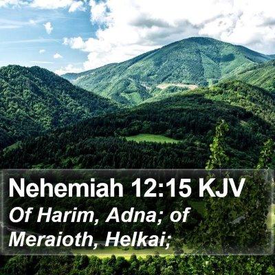 Nehemiah 12:15 KJV Bible Verse Image