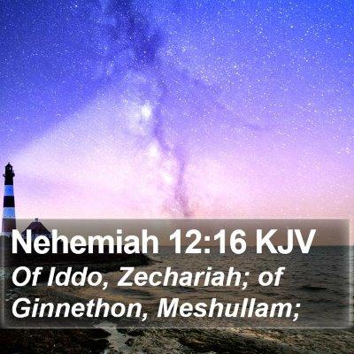 Nehemiah 12:16 KJV Bible Verse Image