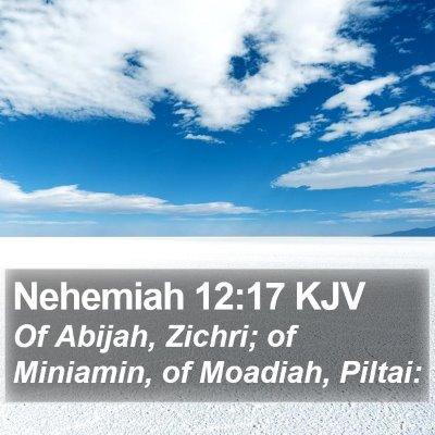 Nehemiah 12:17 KJV Bible Verse Image