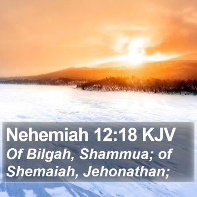 Nehemiah 12:18 KJV Bible Verse Image