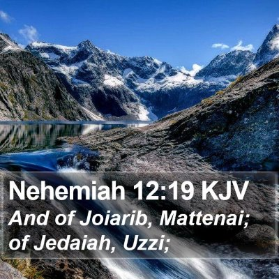 Nehemiah 12:19 KJV Bible Verse Image