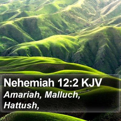 Nehemiah 12:2 KJV Bible Verse Image
