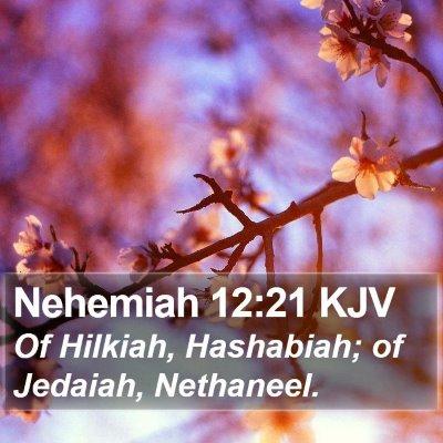 Nehemiah 12:21 KJV Bible Verse Image