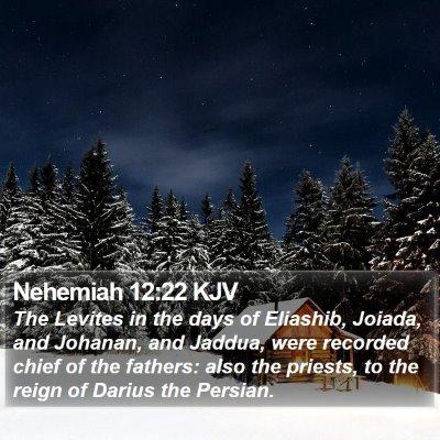 Nehemiah 12:22 KJV Bible Verse Image