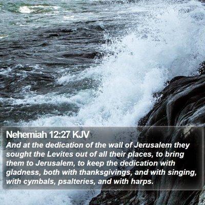 Nehemiah 12:27 KJV Bible Verse Image