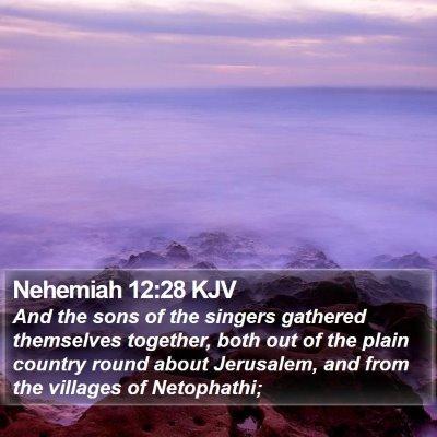Nehemiah 12:28 KJV Bible Verse Image