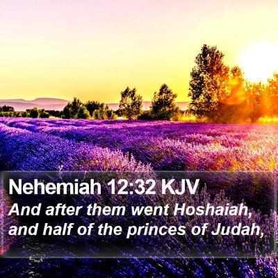Nehemiah 12:32 KJV Bible Verse Image