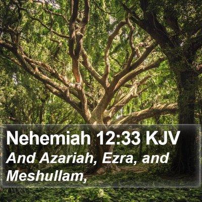 Nehemiah 12:33 KJV Bible Verse Image