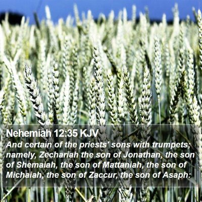 Nehemiah 12:35 KJV Bible Verse Image