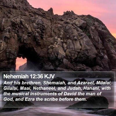 Nehemiah 12:36 KJV Bible Verse Image