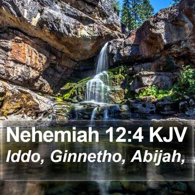 Nehemiah 12:4 KJV Bible Verse Image
