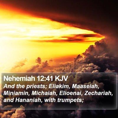 Nehemiah 12:41 KJV Bible Verse Image