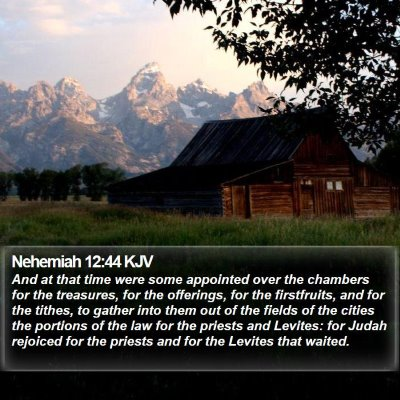 Nehemiah 12:44 KJV Bible Verse Image