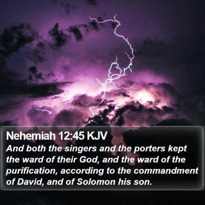 Nehemiah 12:45 KJV Bible Verse Image