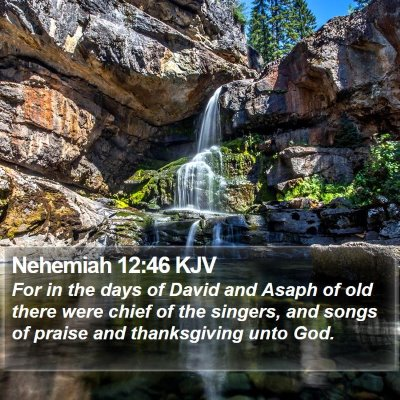 Nehemiah 12:46 KJV Bible Verse Image