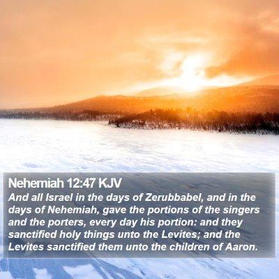 Nehemiah 12:47 KJV Bible Verse Image