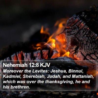 Nehemiah 12:8 KJV Bible Verse Image