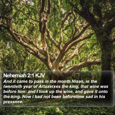 Nehemiah 2:1 KJV Bible Verse Image