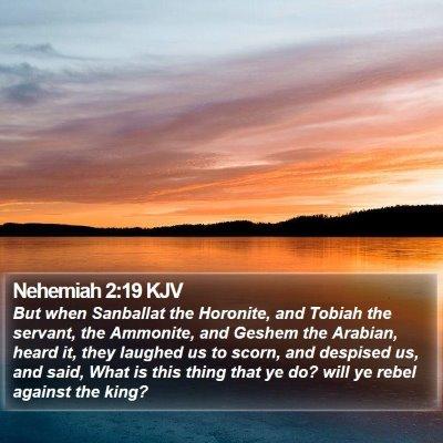 Nehemiah 2:19 KJV Bible Verse Image