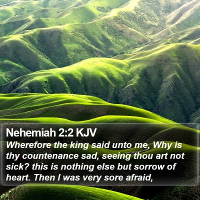 Nehemiah 2:2 KJV Bible Verse Image