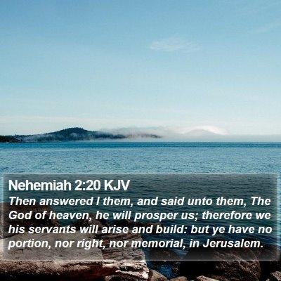 Nehemiah 2:20 KJV Bible Verse Image
