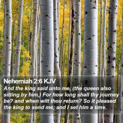 Nehemiah 2:6 KJV Bible Verse Image