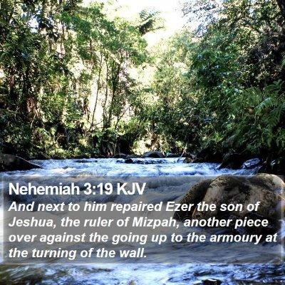 Nehemiah 3:19 KJV Bible Verse Image
