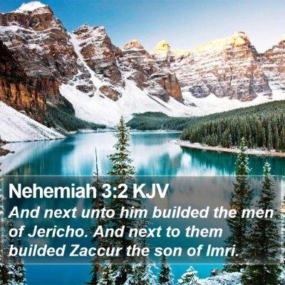 Nehemiah 3:2 KJV Bible Verse Image