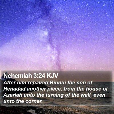 Nehemiah 3:24 KJV Bible Verse Image