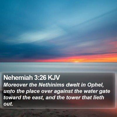 Nehemiah 3:26 KJV Bible Verse Image