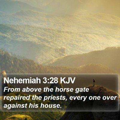 Nehemiah 3:28 KJV Bible Verse Image