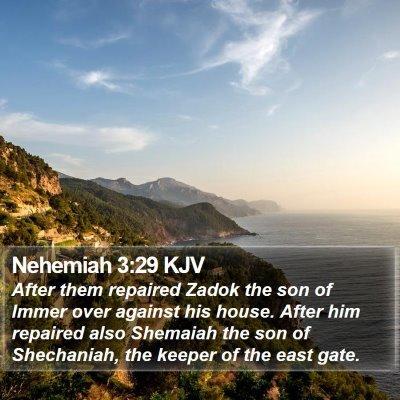 Nehemiah 3:29 KJV Bible Verse Image
