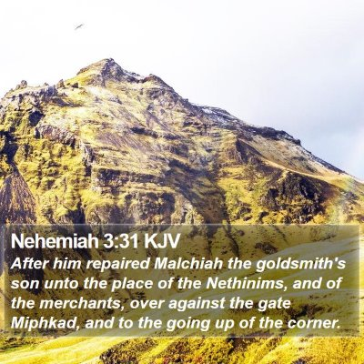 Nehemiah 3:31 KJV Bible Verse Image